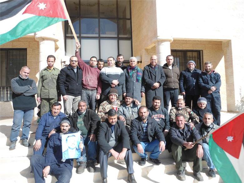 جانب من إضراب العاملين في شركة الصناعات العربية
