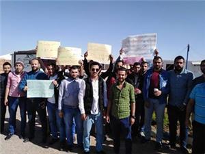 اعتصام لمعلمي الإضافي في مخيمات اللجوء السوري