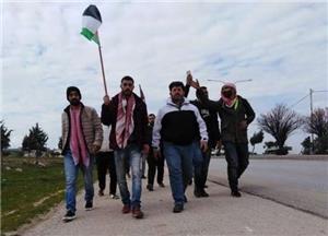 انطلاق مسيرة شباب إربد المتعطلين عن العمل