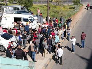 اعتصام موزعي ألبان