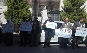 حملة الدكتوراة المتعطلين عن العمل يعتصمون أمام رئاسة الوزراء