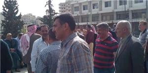 متقاعدو الأمن العام يعتصمون أمام