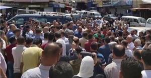 اعتصام لتجار الكرك احتجاجاً على نقل المجمع