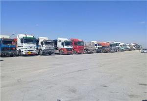 وقفة احتجاجية لسائقي شاحنات نقل الحبوب