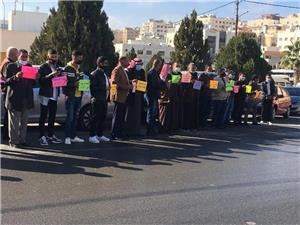 المزارعون يعتصمون أمام وزارة العمل