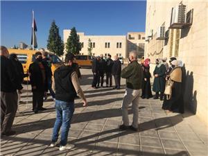 اعتصام لعاملي أكاديمية المكفوفين رفضاً لقرار عودة التعليم الوجاهي