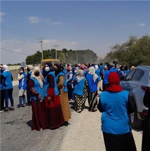 مسيرة احتجاجية لعاملات في مصنع للألبسة بالشونة الجنوبية