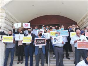 صحفيون وعاملون في المواقع الالكترونية يعتصمون في مقر نقابة الصحفيين